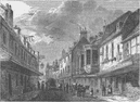 SOUTHWARK. The mint, Southwark, in 1825. London c1880 old antique print